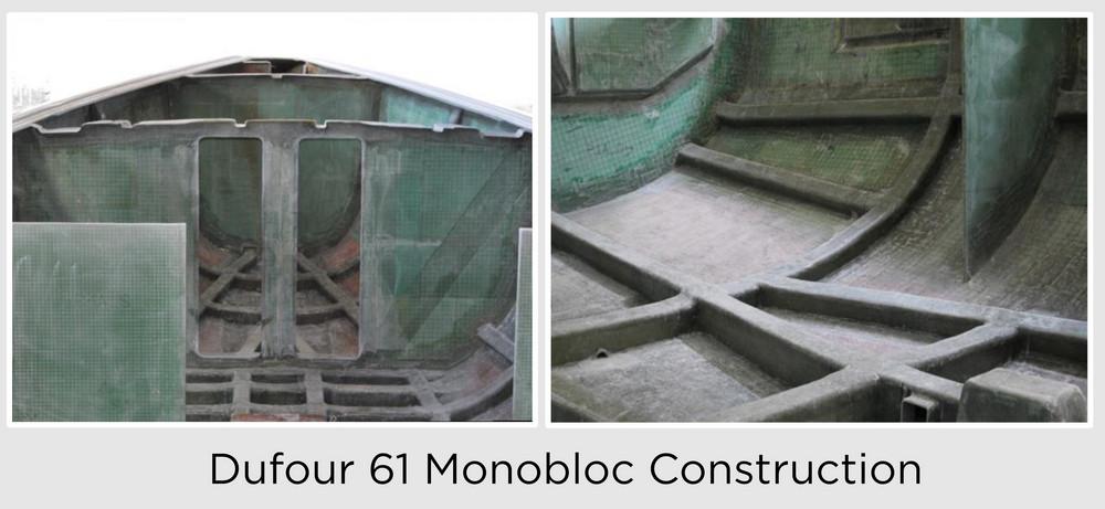 Dufour 61 monobloc construction